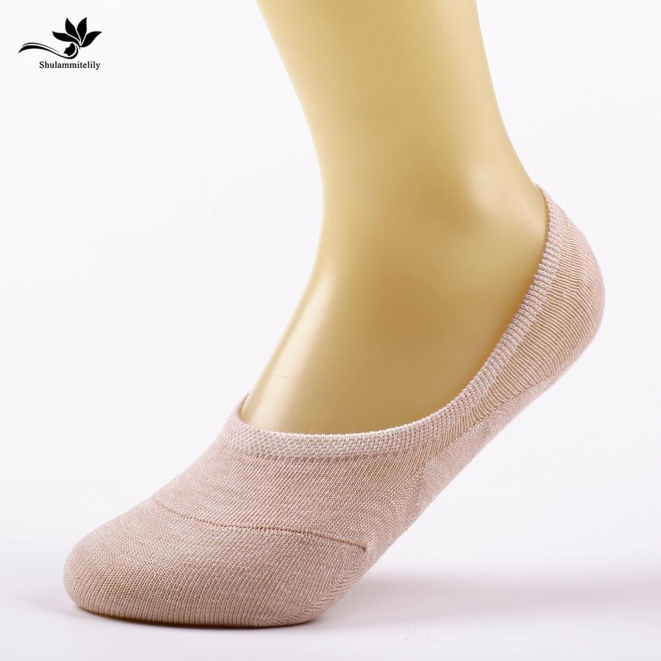 10pcs=5pairs/lot Bamboo Fiber Anti-Slip female   socks   Summer invisible boat   socks   women anti slip candy colors hot sale ankle