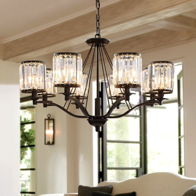 Bright Lights Pendant American Simple Living Room European Style Wrought Iron Lamps Bedroom Dining