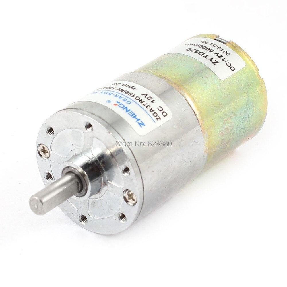 Dc 12v 5000 Rpm Speed Reduce Gearbox Geared Gear Motor 6mm