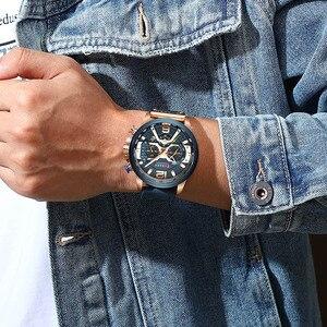Image 3 - Curren męskie zegarki Top marka luksusowy chronograf mężczyźni zegarek skórzany luksusowy wodoodporny zegarek sportowy mężczyźni mężczyzna zegar człowiek zegarek