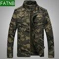Homens JEEPRICH Windbreak Jackets Marca Camuflagem militar e de Carga a Primavera Eo Outono 100% Algodão Roupas Do Exército dos homens Casacos