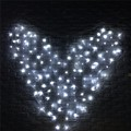 US/EU Plug 3x1.5m Heart Shape Colorful Fairy Light 128 LED String Light Curtain Party Wedding Christmas Party Decor Lamp