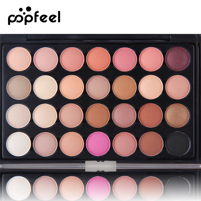 Popfeel Matte Eyeshadow 28 Colors Pallete Makeup Palette To Face Pallet Make Up Palette Glitter Natural Eye Shadow Pallete new arrival woman brand cosmetic makeup set multi function make up naked palette eyeshadow palette