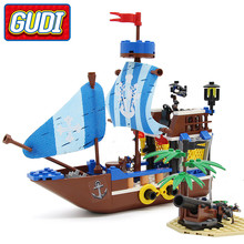 Toys Model Building-Bricks-Kits Boats Ship Christmas-Gifts Pirate Military Battlesh Children