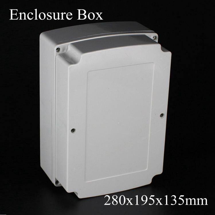 (1 piece/lot) 280x195x135mm Grey ABS Plastic IP65 Waterproof Enclosure PVC Junction Box Electronic Project Instrument Case 1 piece free shipping plastic enclosure for wall mount amplifier case waterproof plastic junction box 110 65 28mm