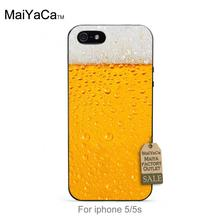 Iced beer black tpu case for iphone 4s 5s 5c 6 6Plus 7 Plus case