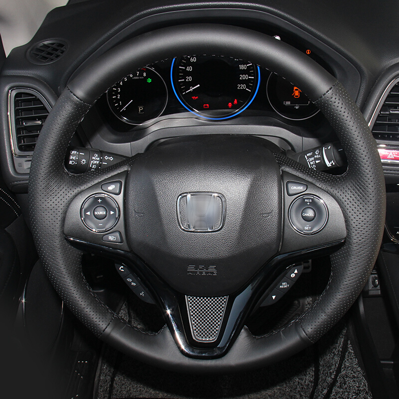 Shining ցորենի սև կաշվե ղեկի կափարիչը Honda - Ավտոմեքենայի ներքին պարագաներ - Լուսանկար 2