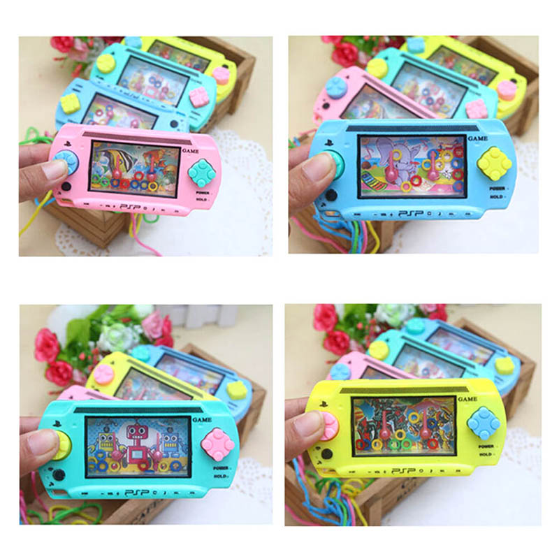 Funny Water Ring Game Water Machine Reminiscence Traditional Game Machine Children Classic Intellectual Toys Random Color
