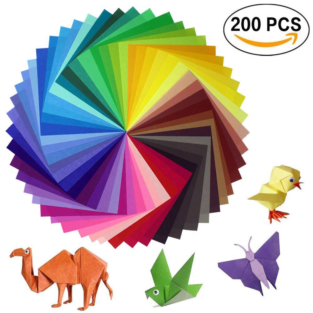 200 Sheets Origami Paper Handicrafts And Art Projects 2 Sizes 50 Bright Colors Recto For Handicrafts 100 Mobile In Stock