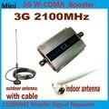 Hot! LCD Família UMTS WCDMA 3G 2100 MHz 2100 MHz Telefone Móvel Impulsionador Repetidor de Sinal Amplificador Telefone Celular com Antena + 10 M Cabo