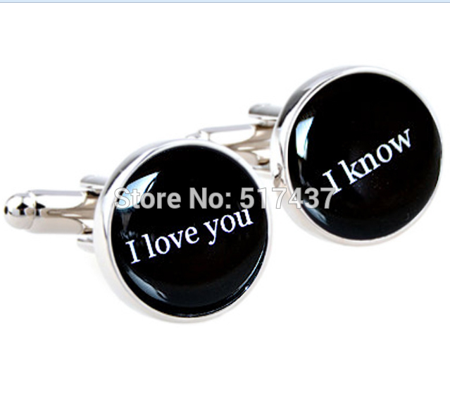 I Love You I Know Cufflinks Quote Wedding Cuff Links Anniversary Or