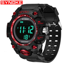SYNOKE NEW Mens  Clock Men Wrist Watches multi-function Sport Watchs Digital Watch Student Sports Childrens