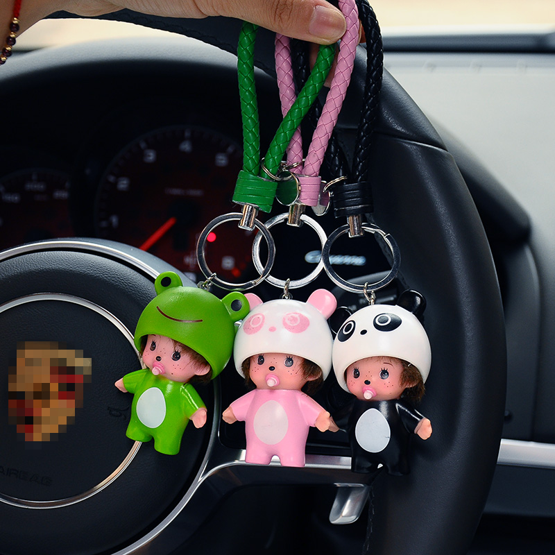 Cute Lucky Cat Holle Kitty Rabbit Bear Mickey Minnie Kiki Dolls Key Chains Monchichi Keychain Car