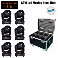 TIPTOP 60W Moving Head Gobo Light 7 Gobo DMX Sound Control Auto Rotating 10/15 Channels Rainbow 7 Colors Changing LED Stage Gobo