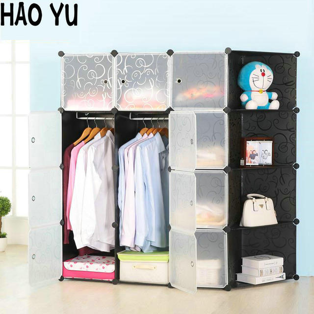 2016 new combination of plastic resin folding simple wardrobe storage cabinets assembled small children 10 colors & 2016 new combination of plastic resin folding simple wardrobe ...