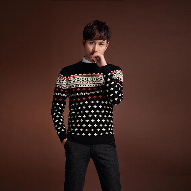 2017 Новый мужской Свитер Японский Tide Национальный Пуловеры Fit с Длинными Рукавами Ветер Шею Lweater М-2XL MK568