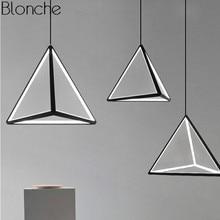 Nordic Iron Art LED Triangle Pendant Lamp for Living Room Kitchen Modern Fixtures Loft Luminaire Industrial Decor Hanging Light стоимость