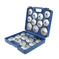 Universal Auto 23PCS Oil Filter Wrench Set Storage Case Cartridge Style Filter Housing Caps Special Tools HWC