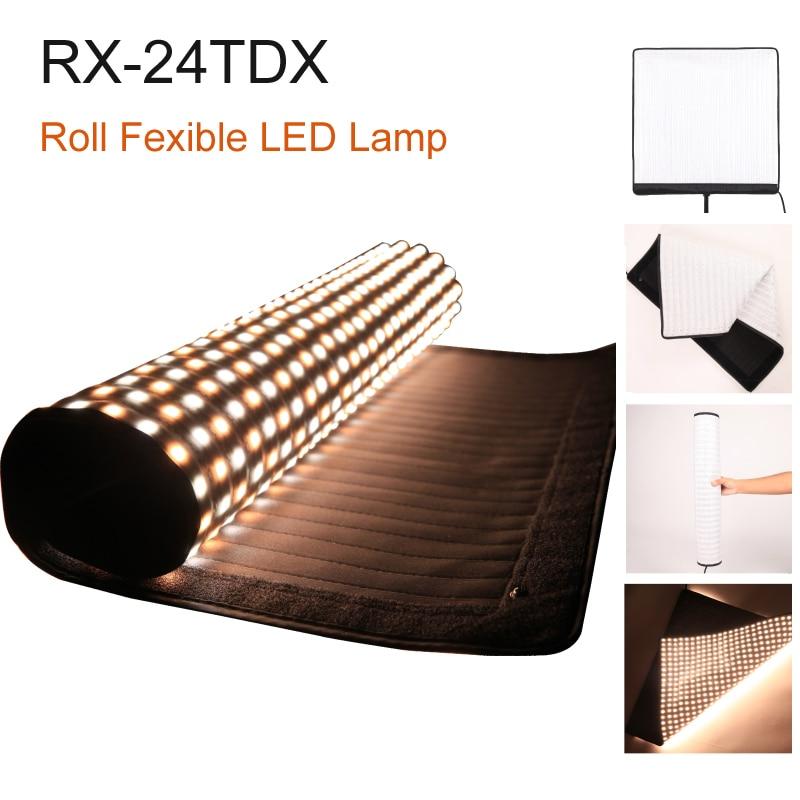 FalconEyes RX-24TDX Piazza Arrotolabile Panno LED Fill-in Luce Lampada Da Studio Video Pannello di Illuminazione 150 w Bi-Colore 3000 k-5600 k Softbox