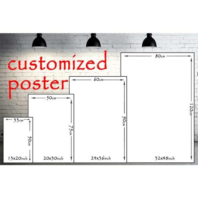 Шелковый постер на заказ с принтом 13x20 32x48 дюймов Аниме фильм пейзаж постер по индивидуальному заказу для домашнего декора стен