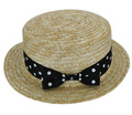 Free Shipping 2016 New Fashion Summer Bow Dot Straw Hats Boater Hat For Women