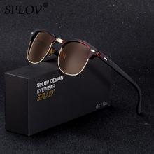 SPLOV Semi Óculos Sem Aro Óculos Polarizados Óculos de Sol Óculos de Sol  Das Mulheres Dos Homens Do Metal Do Vintage Clássico Me. 811d685936