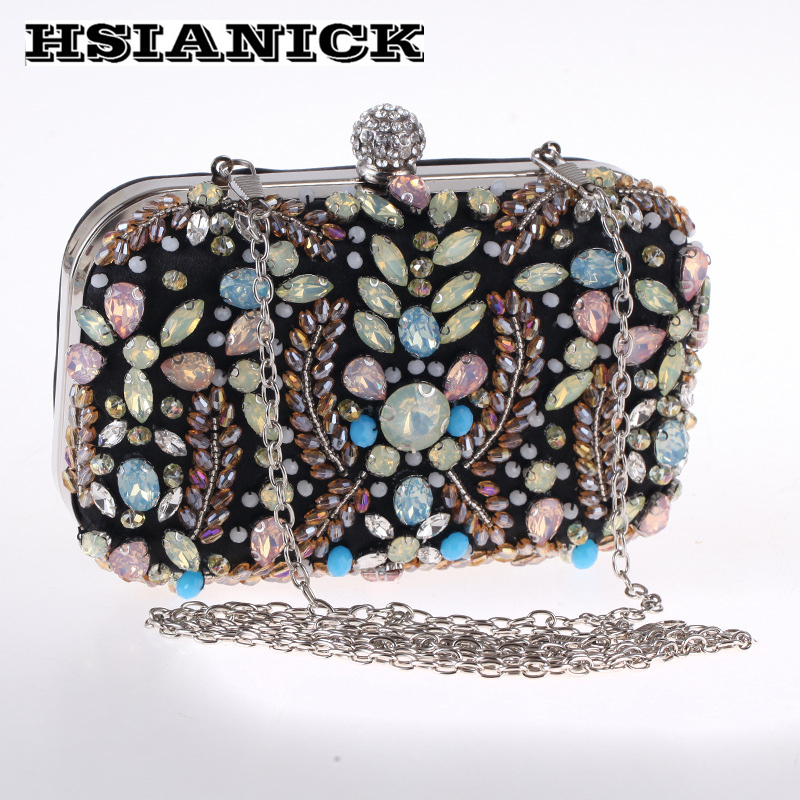 2017 Sale Diamonds Women Europe And Single Fine Handmade Diamond Bead Clutch Special Dinner Party Handbag Wholesale Evening Bag