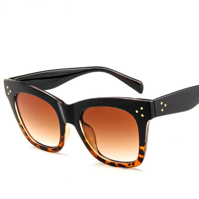 2019 Fashion Cat Eye Leopard Sunglasses Women Brand Designer Vintage Ladys Square Sun Glasses Oculos De Sol feminino UV400