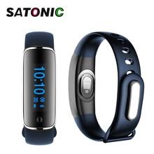 Satonic Фитнес трекер Bluetooth браслет SmartBand Часы артериального давления сердечного ритма Мониторы трекер V8 M8