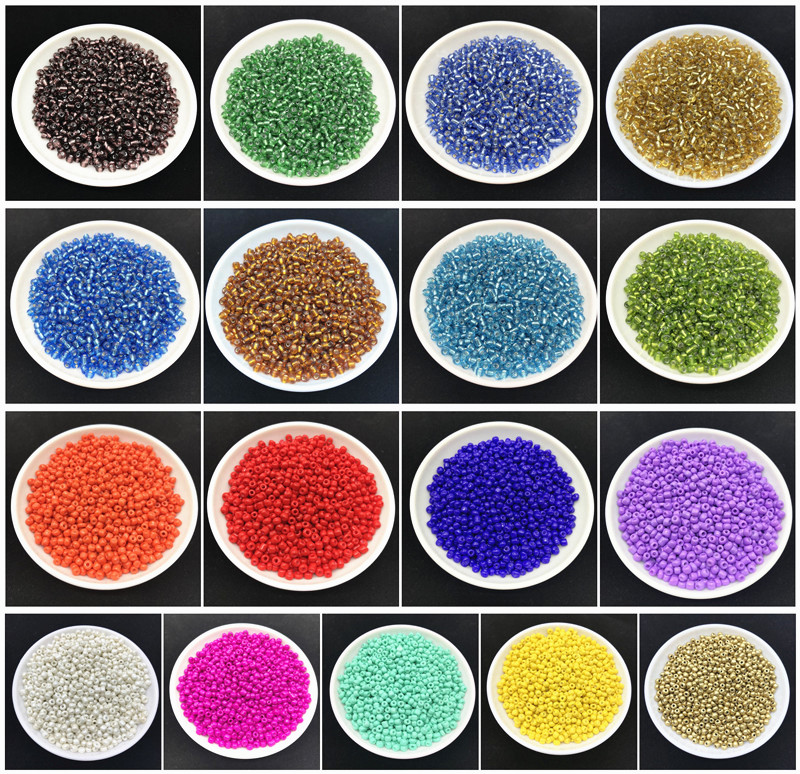 Wholesale 200 pcs 4mm Solid Color Charm Czech Glass Seed Beads DIY Bracelet Necklace For Jewelry Making Crafts(China)