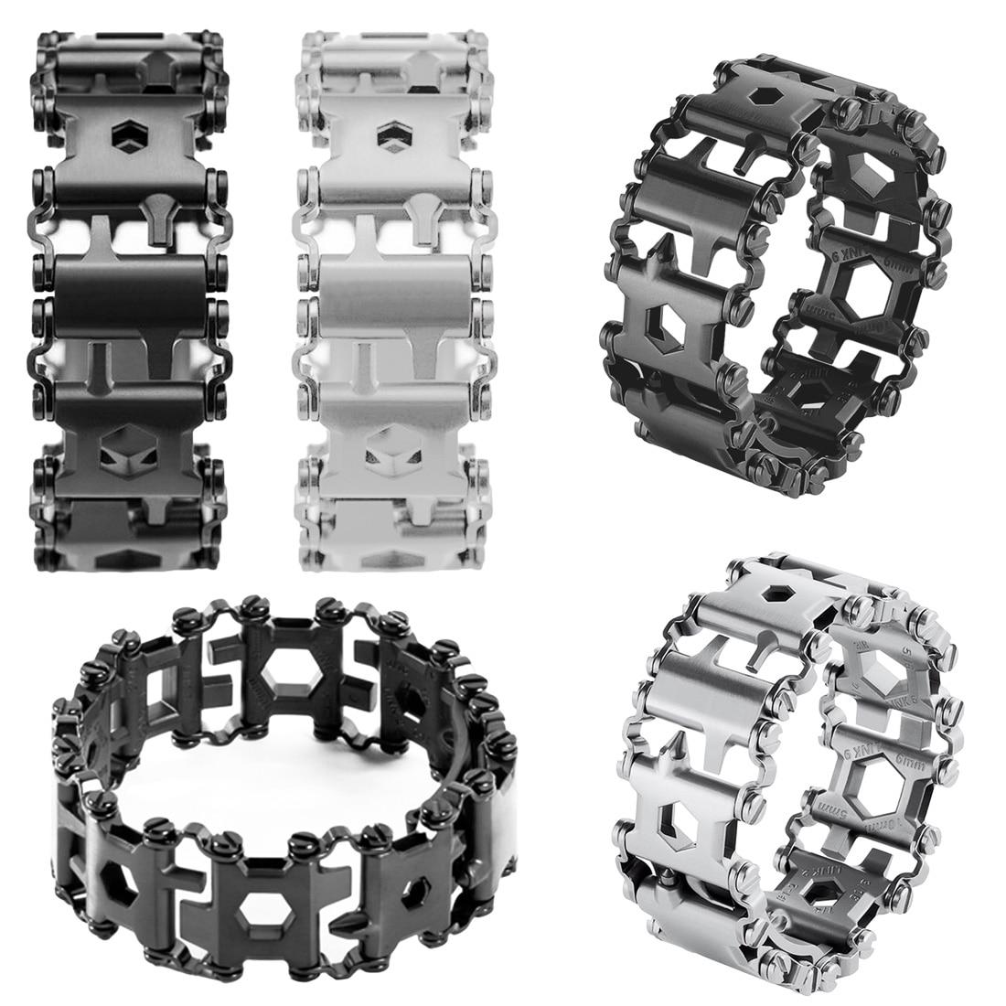 Chaude 29 Dans 1 Multi-fonction Roulement Portable Bracelet Bracelet Multi-fonction Tournevis Trousse D'urgence En Plein Air Multi Outil