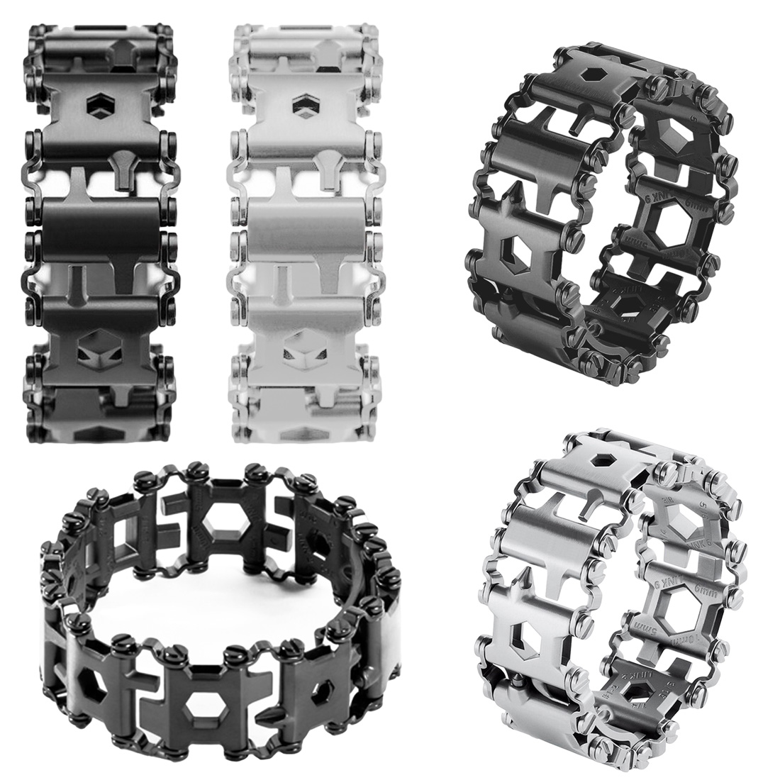 Hot <font><b>29</b></font> <font><b>In</b></font> <font><b>1</b></font> <font><b>Multi</b></font>-function Wearable Tread <font><b>Bracelet</b></font> Strap <font><b>Multi</b></font>-function Screwdriver Outdoor Emergency Kit <font><b>Multi</b></font> <font><b>Tool</b></font> image