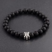 Pulseira de couro preto e branco pulseira de couro pulseira de couro de couro preto e branco