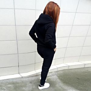 Image 3 - 2019 New Long Sleeve Patcwork Top Pants 2 Piece Sets Women Tracksuit Sportswear Hoodies Sweater Suits Sporting Suit Women
