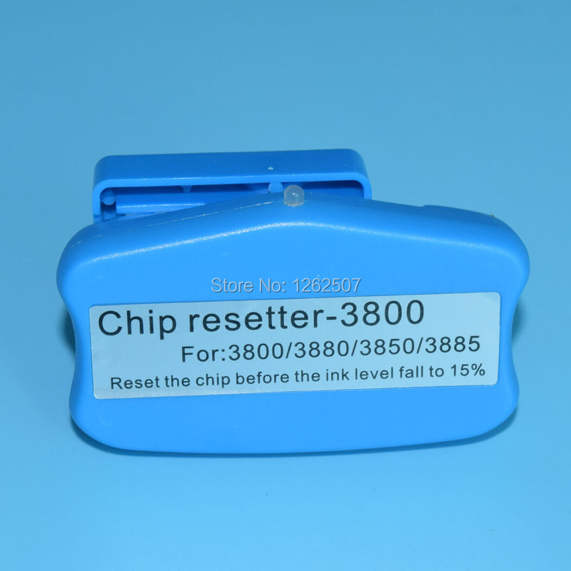1 Pieces Chip Resetter For EPSON 3880 3800 3885 Printer ink cartridge and Maintenance cartridge cs dx18 universal chip resetter for samsung for xerox for sharp toner cartridge chip and drum chip no software limitation