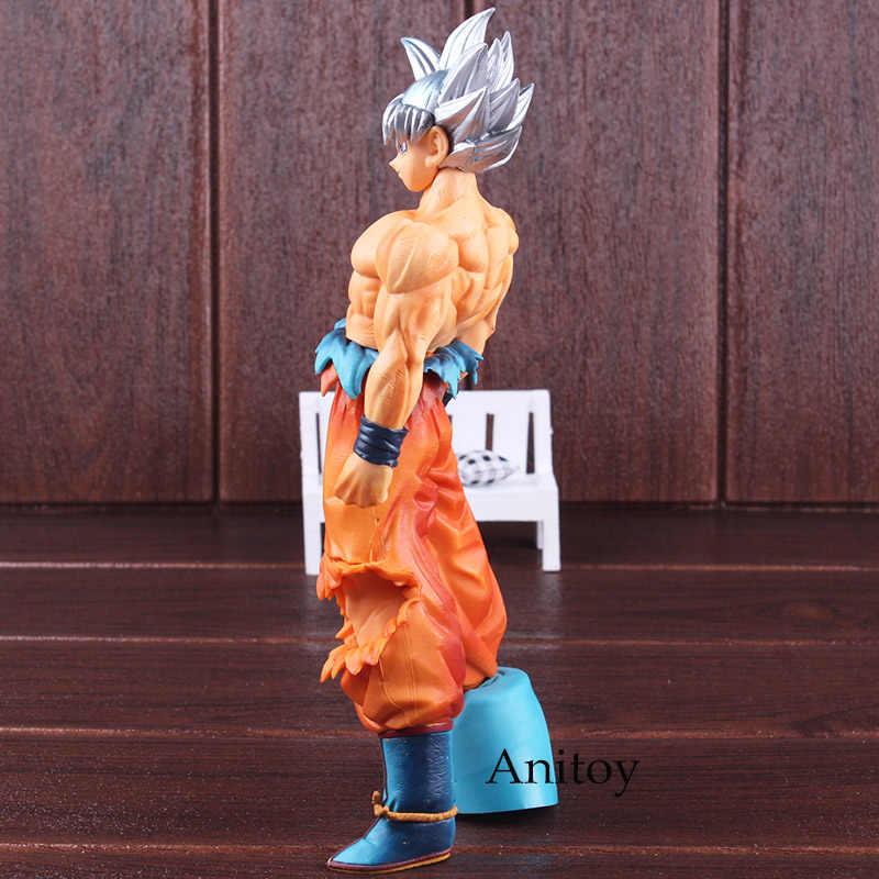 Escultura grande dragon ball z ultra instinto figura coliseu 5 super saiyan son goku tira de cabelo figura pvc collectible modelo brinquedo