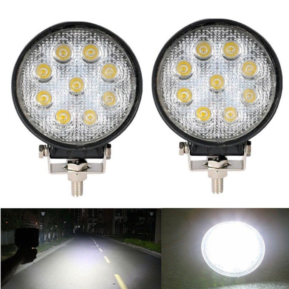 27W Car LED Offroad Work Light Bar for Jeep 4x4 4WD AWD SUV ATV Golf Cart 12v 24v Driving Lamp Motorcycle Fog Light 10w led work light 2 inch 12v 24v car auto suv atv 4wd awd 4x4 off road led driving lamp motorcycle truck headlight