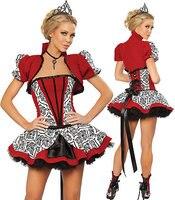 Königin der Herzen Kostüm Sexy Königin Kostüme Weihnachten 1164 Halloween königin party Kostüm