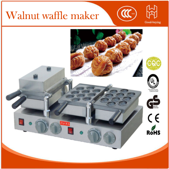 Freeshipping restaurant snack food square Cafe waffle machine walnut cake waffle maker