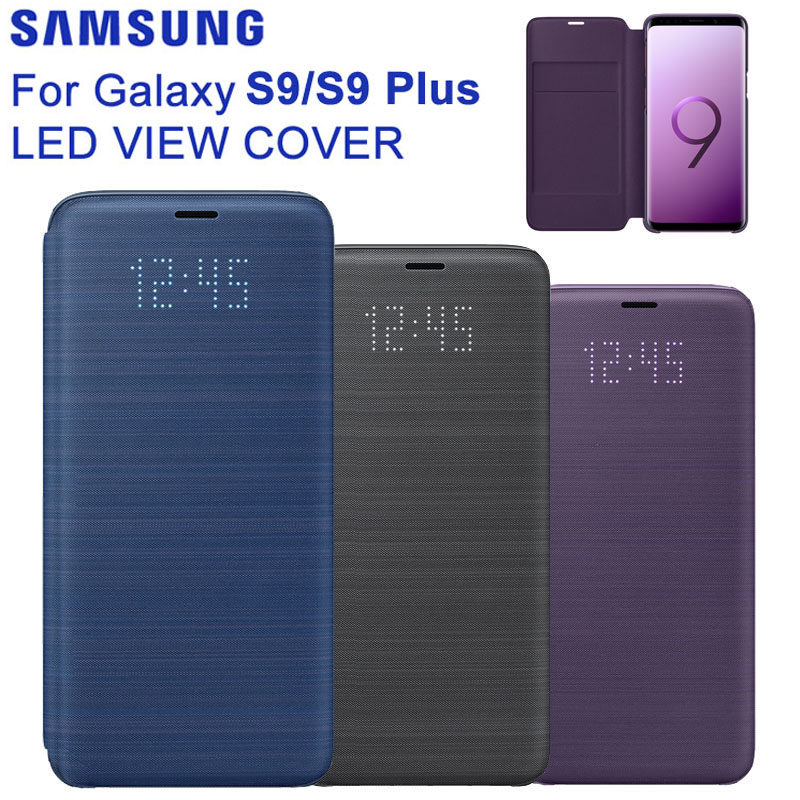 D'origine Samsung LED Couverture Housse de Protection Téléphone étui pour Samsung Galaxy S9 G9600 S9 + Plus G9650 Fonction Sommeil Carte Poche-in Étuis à rabat from Téléphones portables et télécommunications on AliExpress - 11.11_Double 11_Singles' Day 1