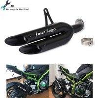 Moto Escape выхлопной трубы для Kawasaki Z900 глушитель брат выхлопных газов аксессуары мотоциклов два отверстия мотоцикл части трубы