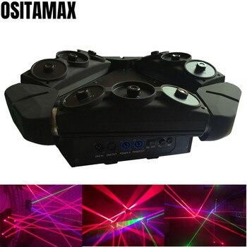 סופר קרן לייזר עכביש הזזת ראש אור RGB צבעוני 9 עיניים 3x3 שלב תאורת לייזר מקרן קרן נע ראשי