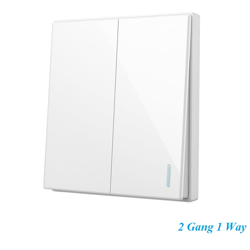 High Quality Minimalist Magnolia White Large Panel Wall Switch With Fluorescence 86 type 2 Gang 1 Way Single Control Switch fluorescence yellow high visibility