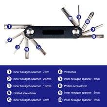 Bike Repair Kits with Pressure Gauge Pump Mini Bicycle Pump Bike Flat Tire Repair Tools with Bag B2Cshop