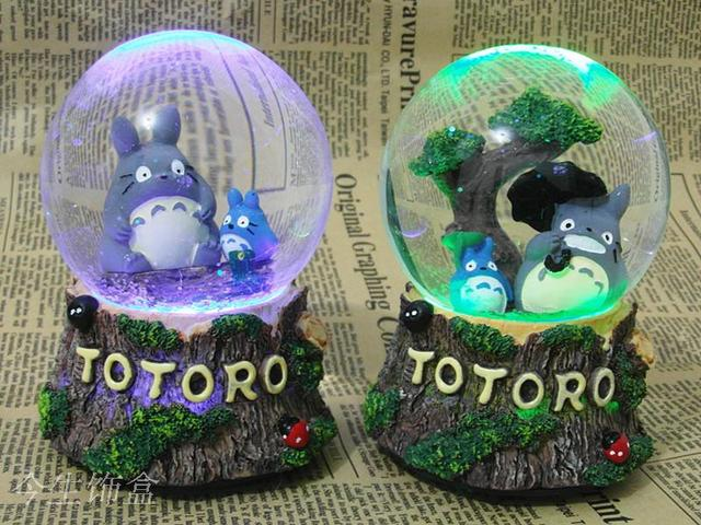 Us 28 16 Totoro Lantern Snow Globe Music Box Music Box To Send Students To Male And Female Friends Birthday Gift In Bottles Jars Boxes From Home