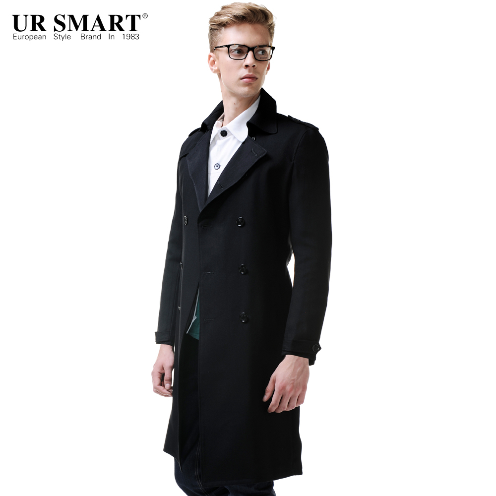 Popular Black Trench Coat Men-Buy Cheap Black Trench Coat Men lots ...