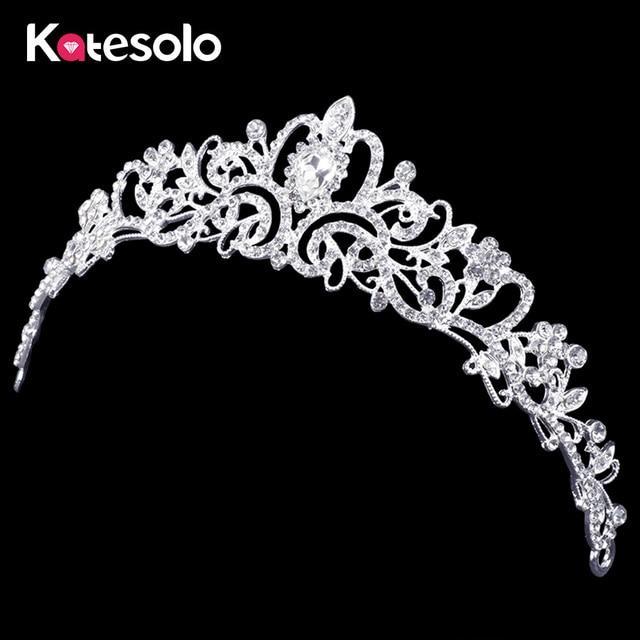 2016 Luxury Wedding Bridal Crystal Tiara Crowns Princess Queen Pageant Prom Rhin