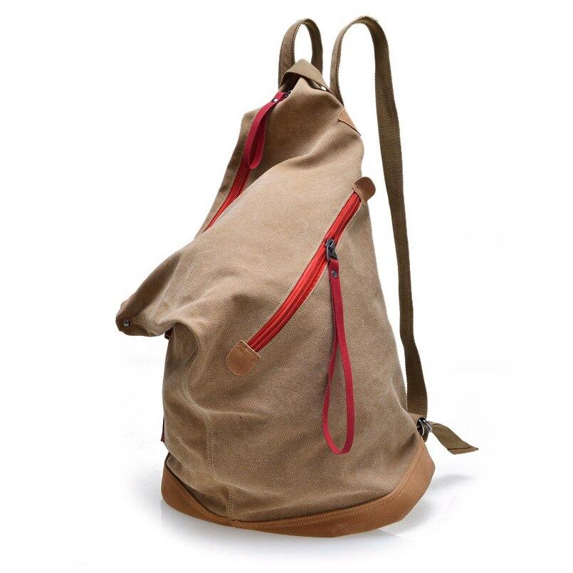Brand Korean Version Canvas font b Backpacks b font Men Bucket Stylish Backpacking Bags College Schoolbag
