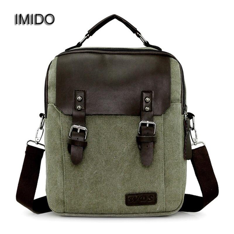 IMIDO Brand Designer Canvas Backpack for Teenager Boys Girls School Bag Travel Backpacks Men Women Backbag Blue Mochilas SLD044