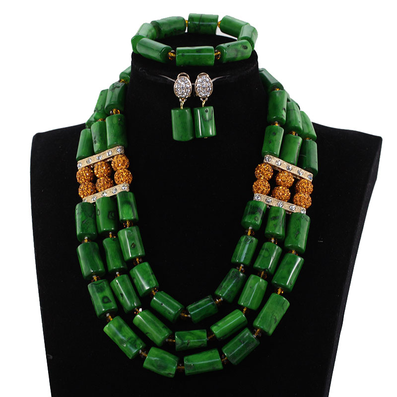 Charms Nigerian Green Coral Beads Wedding Jewelry Set Original Coral Bold Statement African Jewelry Set for Women CNR169Charms Nigerian Green Coral Beads Wedding Jewelry Set Original Coral Bold Statement African Jewelry Set for Women CNR169